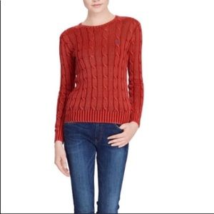 Ralph Lauren red sweater size large